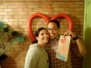 Brian was super excited about his Valentine's bag!