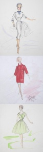 Edith Head - Various sketches for unknown actresses