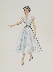 Edith Head Sketch for Elizabeth Taylor