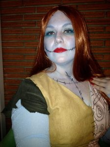 Since it's already my Facebook profile pic, here's a glimpse of my Sally costume!