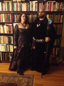 "Boyfriend and I opted for the more ""traditional"" Witch and Wizard!"
