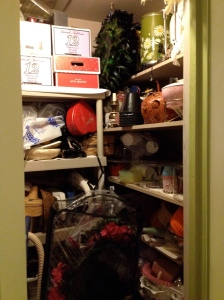 "Behold! The hereto unseen ""party closet,"" which holds many additional things!"