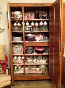 It's kind of a dinnerware Narnia in there.