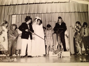 Also, here's my maternal grandfather (he's the bride) posing in a mock wedding!