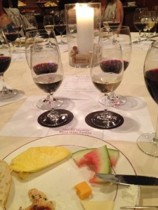 Classiest shot ever of my mystery wines and dirty dinner plate.