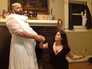 Sexy Atreyu and the (Beardy) Childlike Empress are seriously concerned about The Nothing!