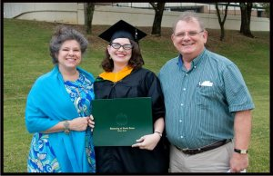 My parents at my graduation from grad school! They're proud of me.