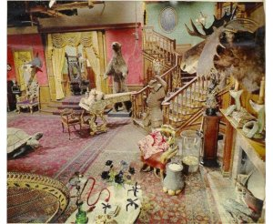 Photographed by Richard Fish, the set of tv's Addams Family was bright and perky.