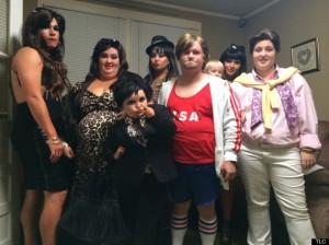 "Speaking of which, the entire cast of ""Here Comes Honey Boo Boo"" were the Kardashians for Halloween this year. *brain exploding*"