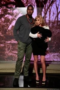 It's KIMYE!!! Again, perfect, and Kelly looks like a pretty credible Kim Kardashian!