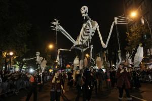 Gigantic, amazing, creepy, dancing skeletons!