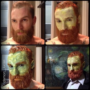 This guy's Van Gogh is intense and so incredibly well done!