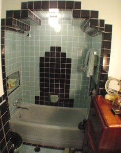 LOVE this! What a great re-do! The shower is the central focus!