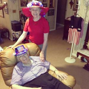 He and my grandmother on the 4th of July!