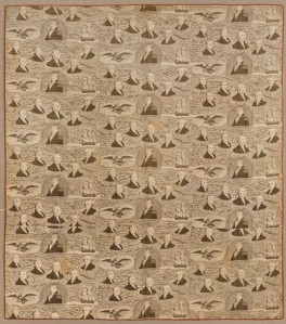 Whole-Cloth Quilt, circa 1830s, Cotton toile, 70 x 85 in. (177.8 x 215.9 cm), Brooklyn Museum, Gift of Margaret S. Bedell, 28.111, Brooklyn Museum photograph (Gavin Ashworth, photographer), 2012