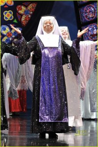 Speaking of Broadway, the stage version of Sister Act didn't spare the sequins, either!