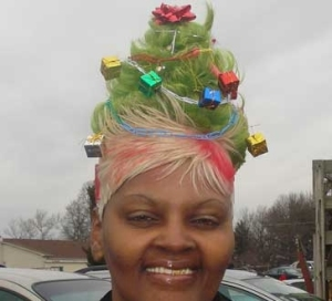 Christmas HAIR! She and Gaga should hang out.