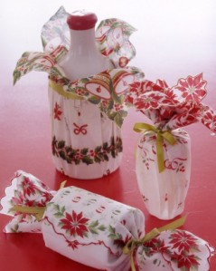 These are beautiful, but you have to find and purchase (perhaps expensive, if done correctly) vintage linens.
