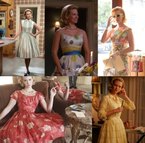 The more classic 50s look, as worn by a beautiful, unhappy narcissist.