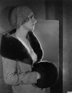 Joan Bennett, photographed in 1925, definitely vintage, and wearable whenever it's cold! I bought a children's fur coat at the thrift store, and fully intend to make a muff (or two!) from the sleeves!