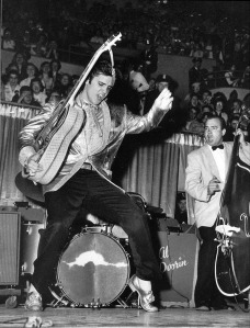 Look at this cat! NO ONE danced like this (especially not on tv) before Elvis.