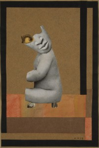 Aus der Sammlung: Aus einem ethnographischen Museum (From the Collection: From an Ethnographic Museum), 1929, Collage and gouache on paper, 26x17.5cm, Scottish National Gallery of Modern Art, Edinburgh Bequeathed by Gabrielle Keiller, 1995