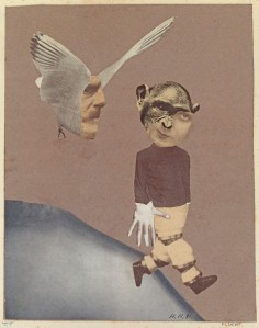Flucht (Flight), 1931, Collage, 23x18.4cm, Collection of IFA, Stuttgart