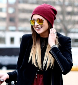 If you need to cover those ears, a beanie is a great option! Coordinate with a classic/modern jacket and look totally put together!
