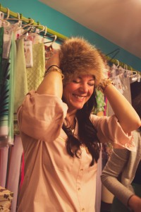 Britney's the cutest! LOVE this fur hat!