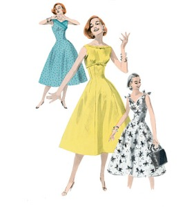 Butterick 5603 - Fabulous retro reprint pattern that's got several choices for different bodice styles!