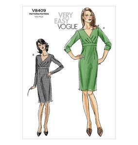 Vogue 8409 - With some prompting by the fabulous Gertie, I made this dress as a simple sheath to accessorize and wear to work!
