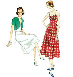 Vintage Vogue 8812 - An early 1940s pattern, this is a great simple summer dress!